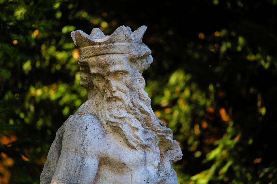 Augsburg, Courtyard Garden, Sculpture, Stone Figure