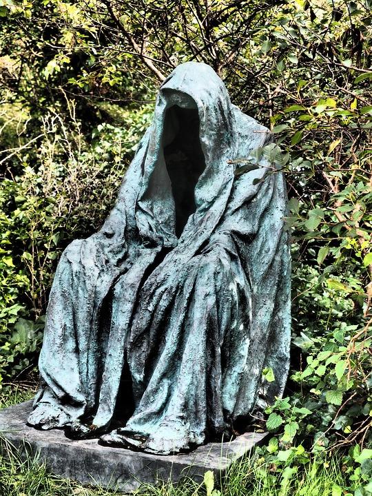 Sculpture, Gloomy, Dark, Death, Suffering, St Severin