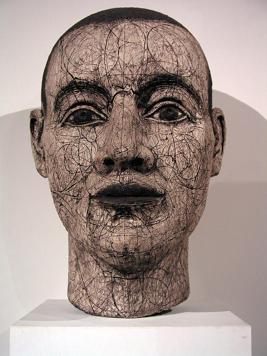 Head, Sculpture, Face, Clay