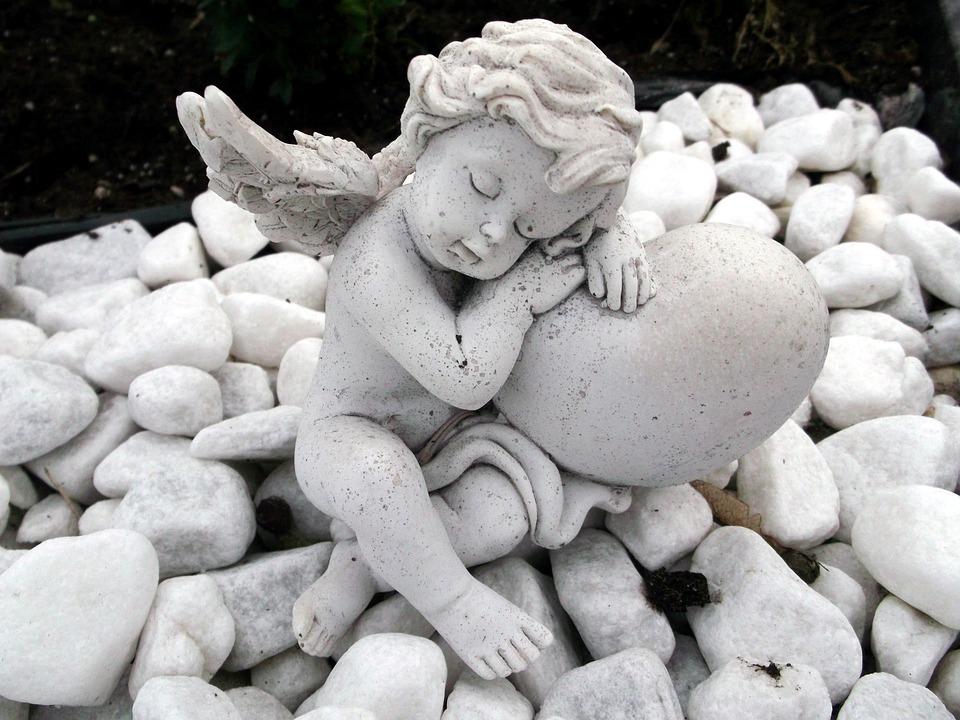 Angel, Faith, Cemetery, Hope, Fig, Sculpture