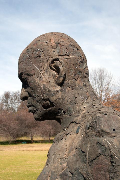 Sculpture, Figure, Statue, Male, Art, Rough, Head, Face