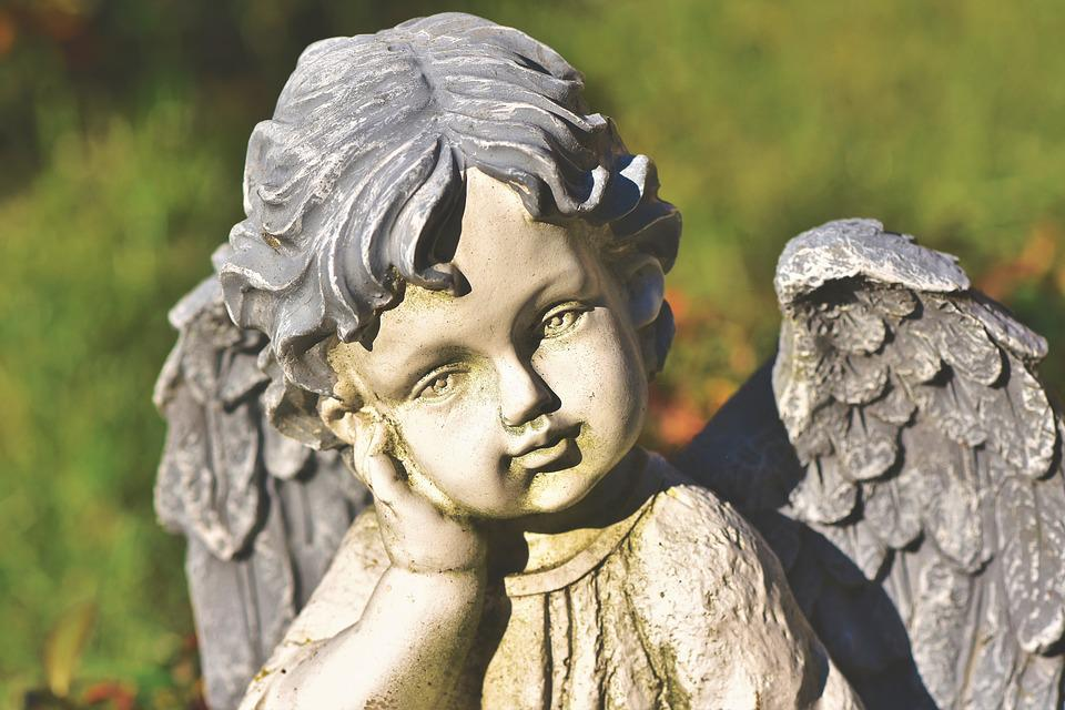 Angel, Cemetery, Sculpture, Statue, Figure