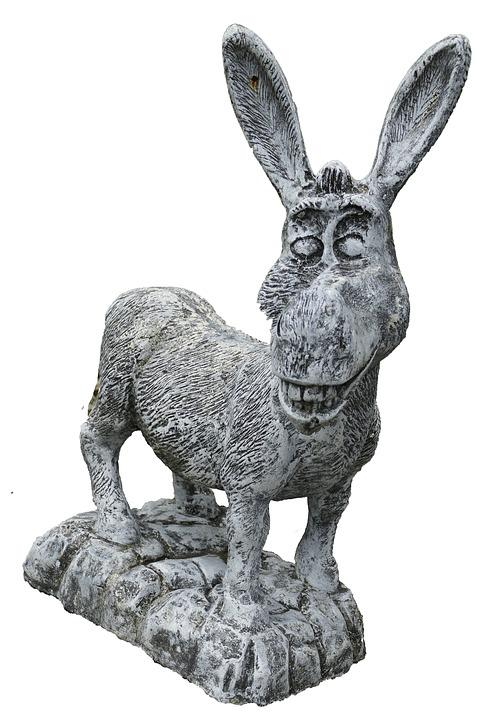 Donkey, Figure, Funny, Sculpture, Garden Figurines