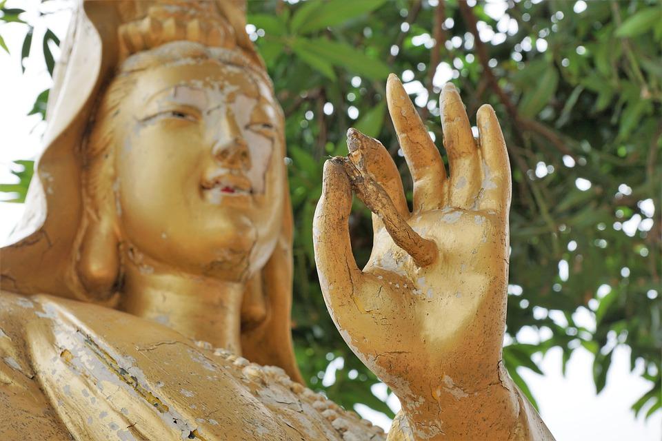 Sculpture, Gold, Buddha, Art, Statue