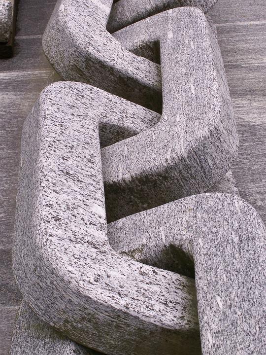 Granite, Chain, Stone, Grey, Art, Sculpture