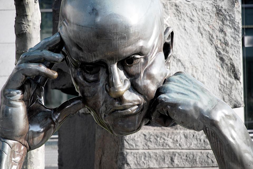 Head, Scuplture, Think, Sculpture, Statue, Ancient