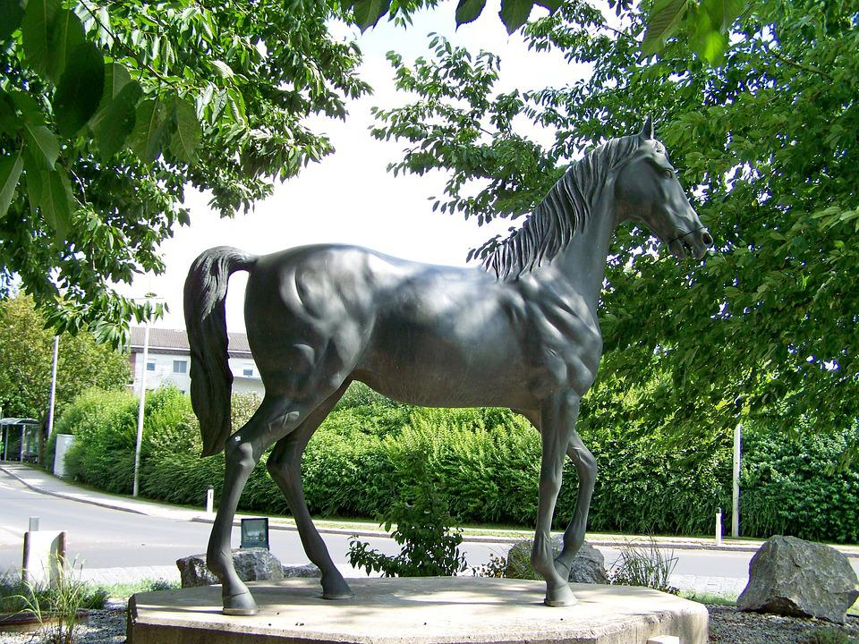 Horse Statue, Sculpture, Art