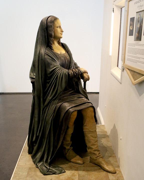 Sculpture, Grounds For Sculpture, New Jersey, Mona Lisa
