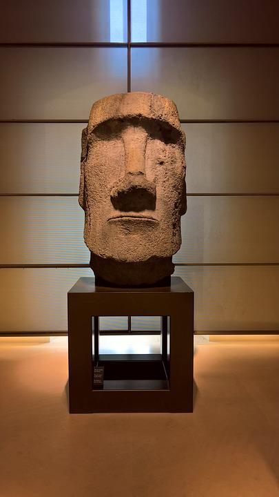 Easter Island, Head, Louvre, Museum, Sculpture