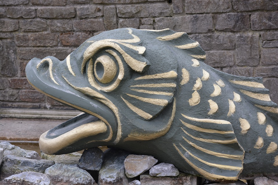 Fish, Sculpture, Oostende