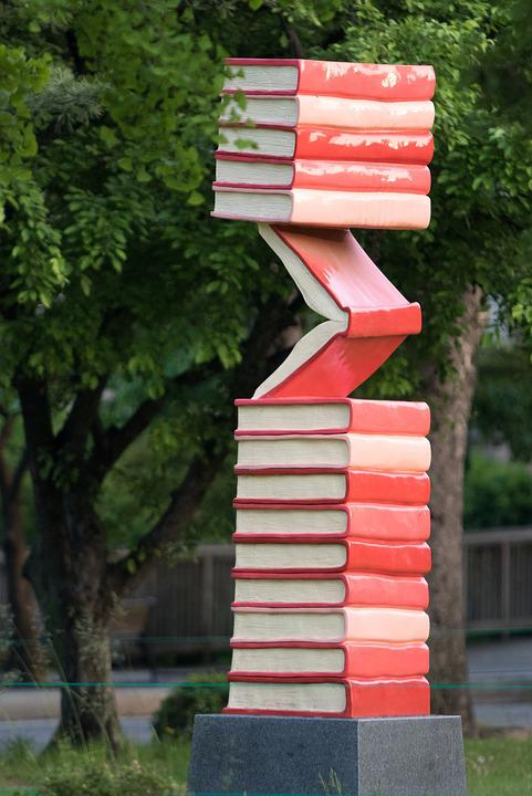 Sculpture, Book, Art, Garden, Memorial, Park