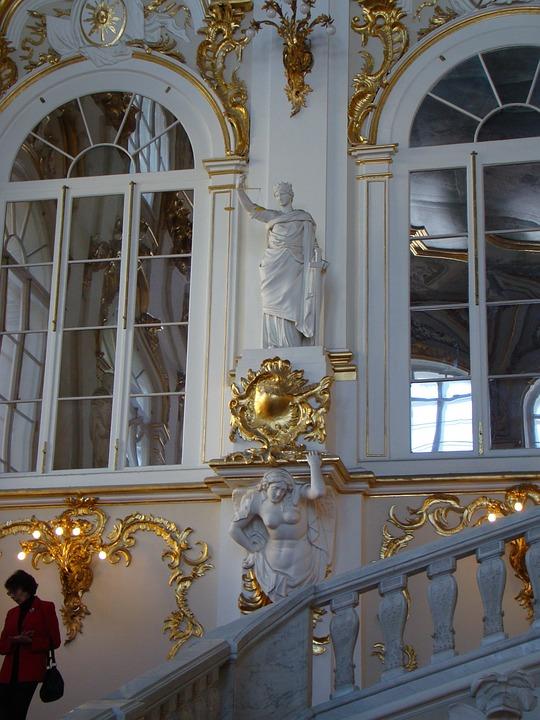 Hermitage, Winter Palace, Petersburg, Ladder, Sculpture