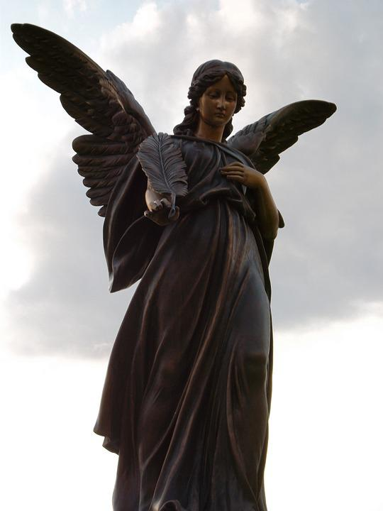 Statue, Angel, Sculpture, Religion, Religious, Symbol