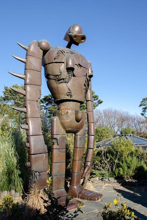Robot Soldier, Statue, Life-size, Sculpture, Figure