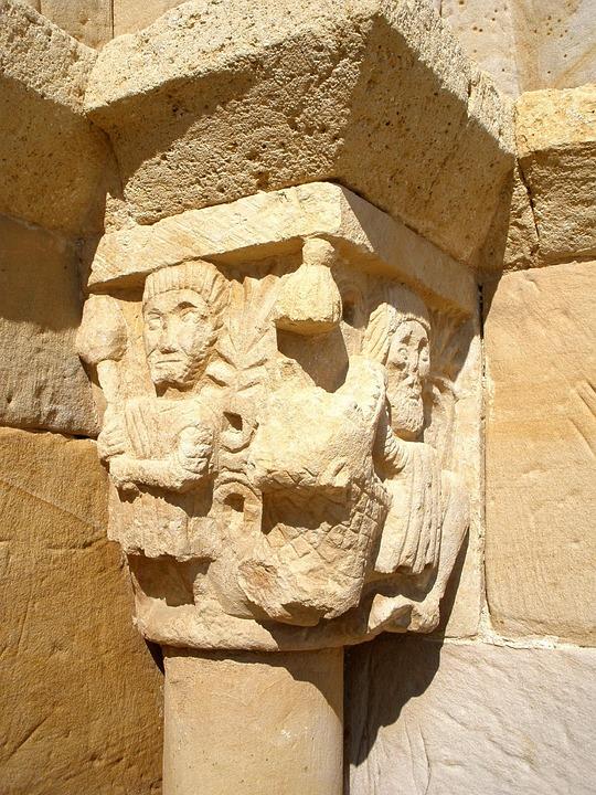 San Cosme, Church, Column, Sculpture, Artwork, Relief
