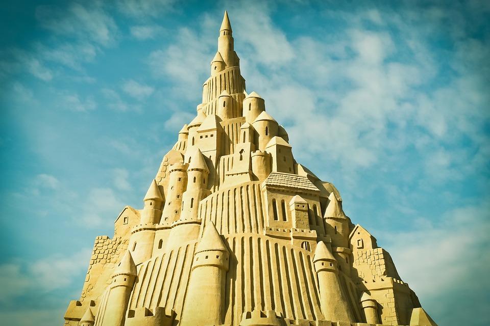 Sand Castle, Sandburg, Art, Sand Sculpture, Sculpture