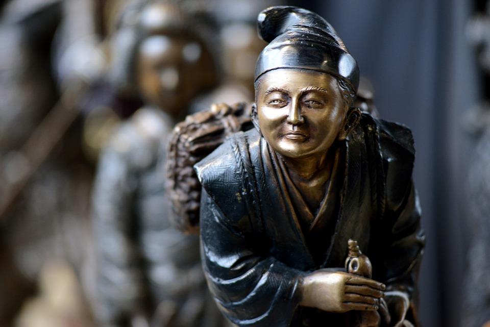 Japanese, Sculpture, Small, Figure, Decoration, Japan