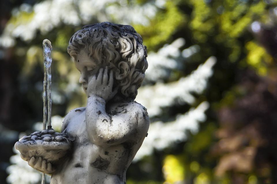 Statue, Source, Garden, Sculpture