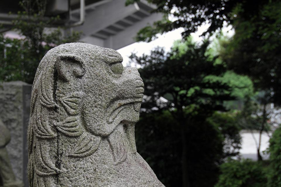 Sculpture, Japanese, Asian, Traditional, Statue, Stone