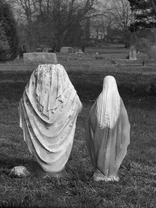Madonna, Cemetery, Stone Figure, Statue, Sculpture