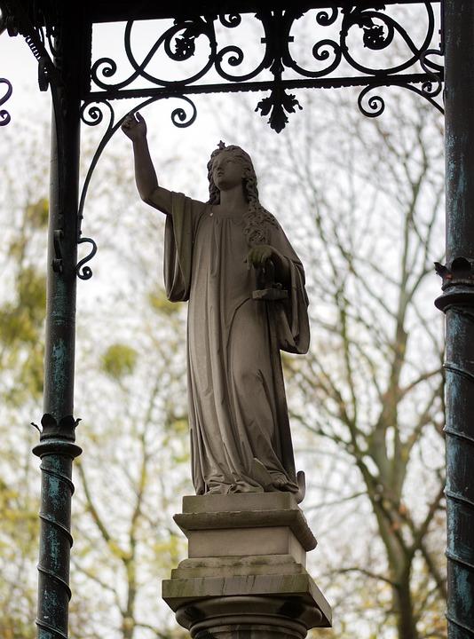 Sculpture, Stone, Statue, Figure, Woman, The Mystic