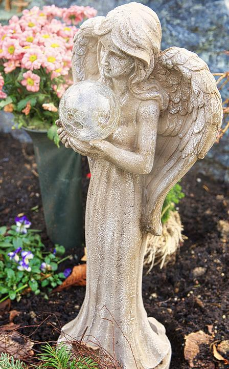 Angel, Statue, Nature, Sculpture, Stone, Cemetery