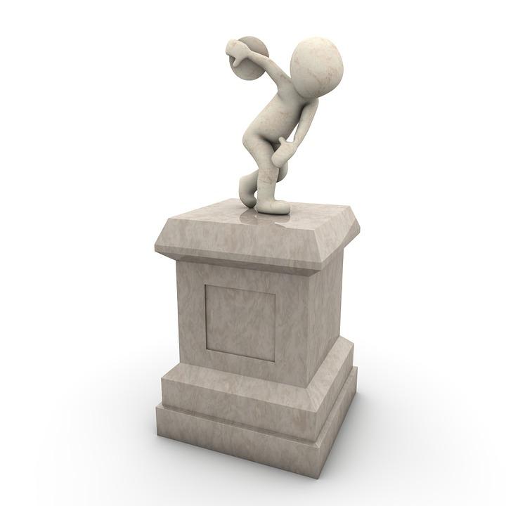 Monument, Discus, Force, Globe, Stone, Sculpture