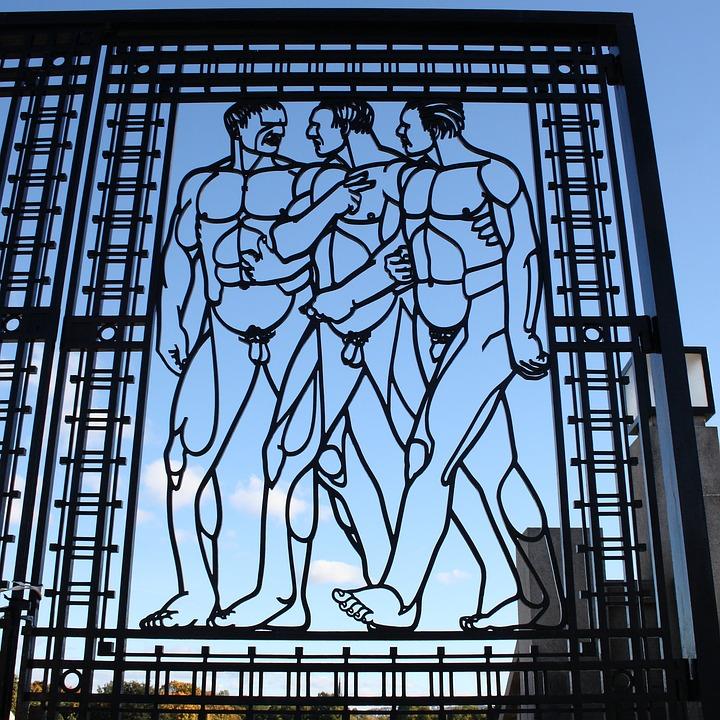 Norway, Oslo, Vigeland Park, Sculpture, Park