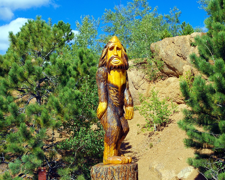 Pikes Peak Bigfoot, Bigfoot, Statue, Wood, Sculpture