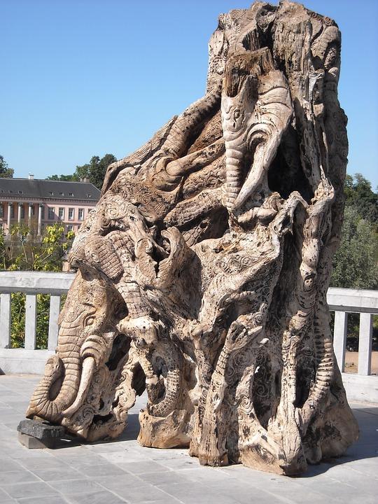 Wood, Work Of Art, Sculpture, Woodcarving, Handmade