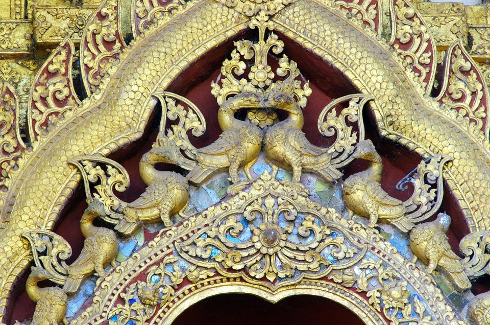 Luang Prabang, Temple, Sculptures, Decoration, Buddhism
