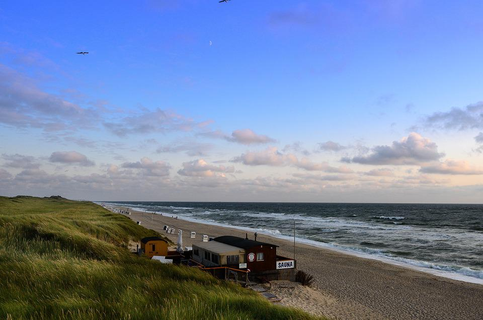 Sylt, Vacations, Sea, Beach, Sauna, A Belt Of Dunes