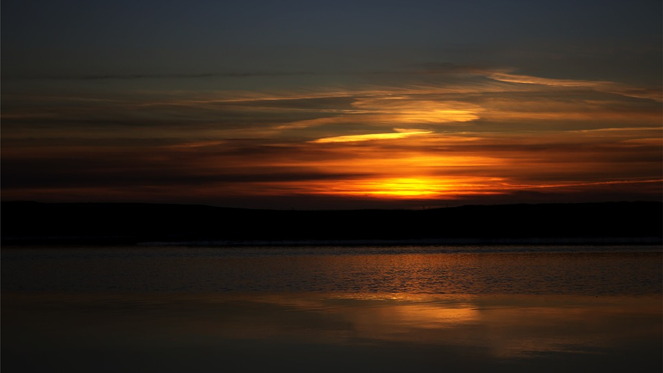 Sunset, Sea, Beach, Abendstimmung, Distant, Evening Sky