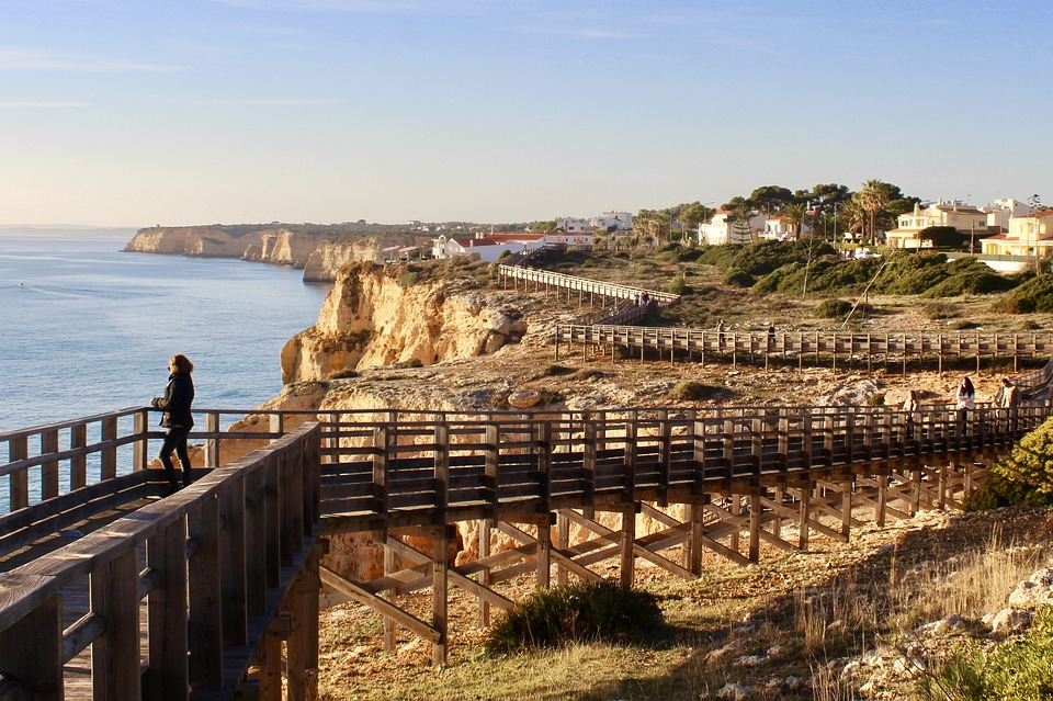 Portugal, Algarve, Cliffs, Costa, Sea, Ocean, Water