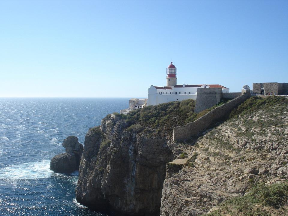 Algarve, Lighthouse, Sea