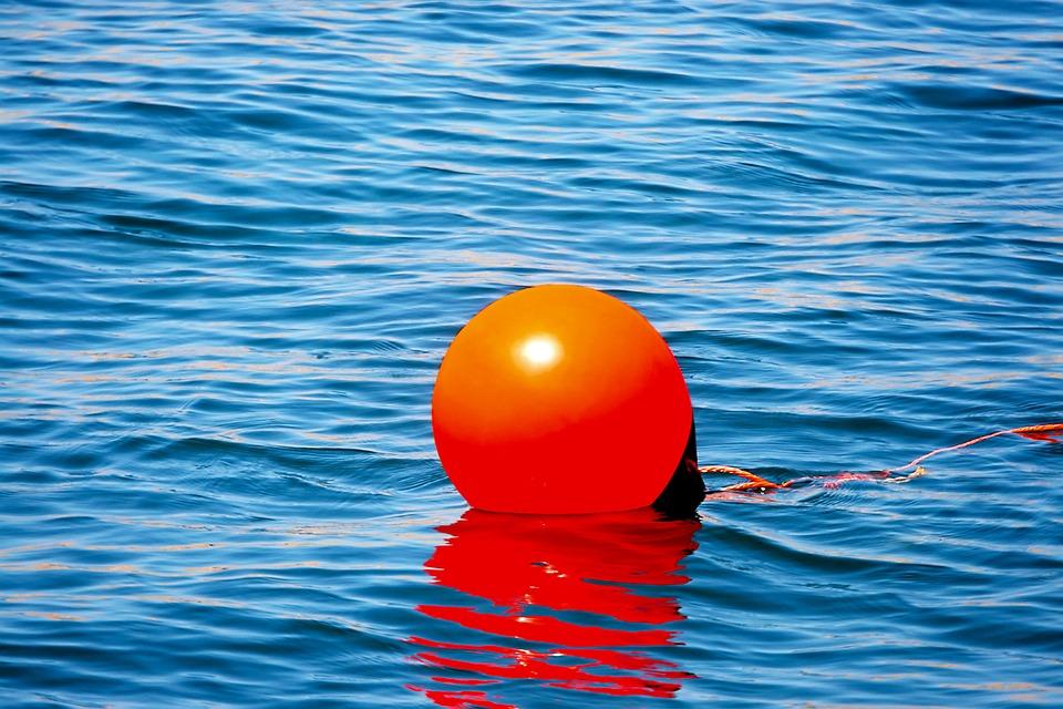 Anchor Buoy, Boje, Water, Sea, Orange, Alarm, Shipping