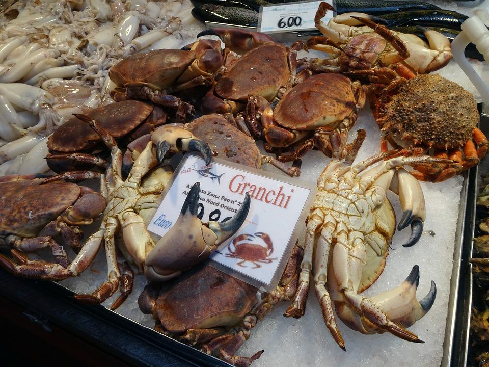 Crustaceans, Crabs, Fish Market, Market, Sea Animals