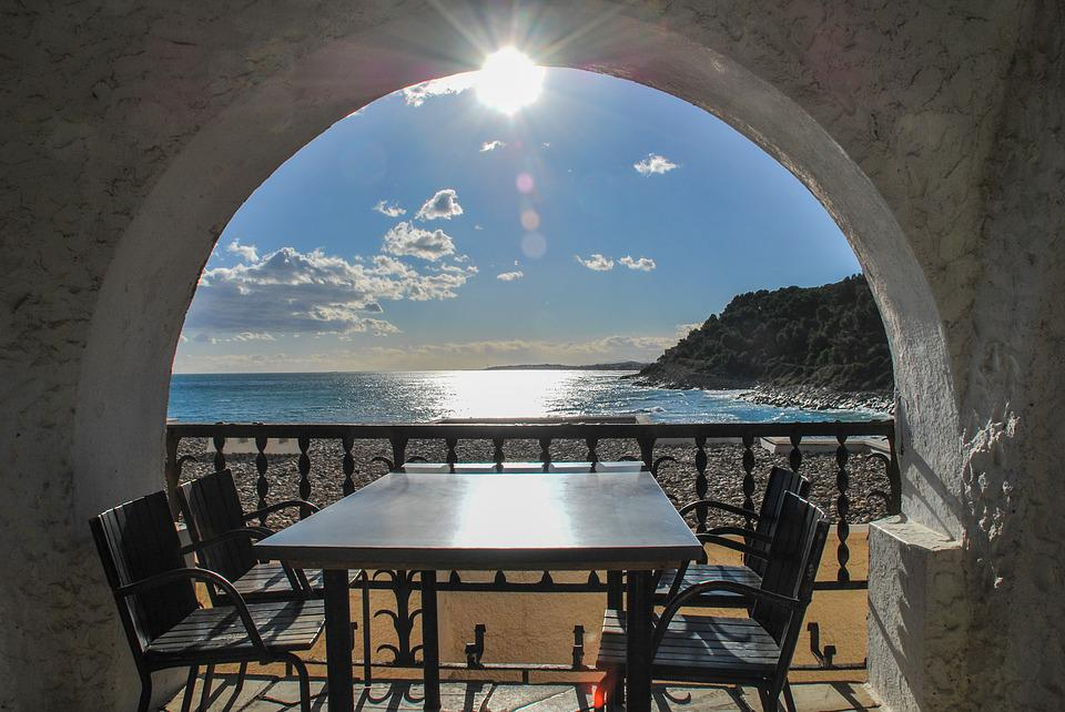 Architecture, Travel, Table, Chairs, Relax, Sea, Beach