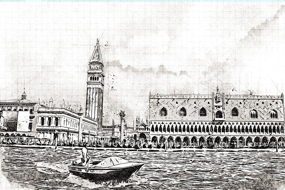 Monument, Sea, Channel, Venice, Tourism, Architecture