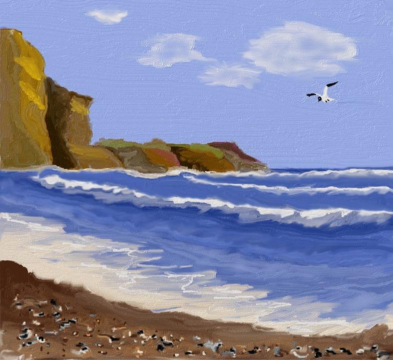 Sea, Bank, Water, Beach, Sand, Mussels, Atlantic Coast