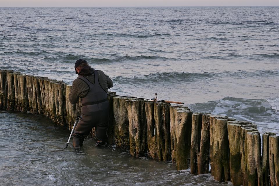 Waters, Sea, Baltic Sea, Surf Fishing, Fishing Rod