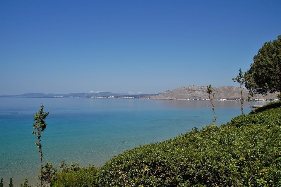 Sea, Bay, Greece, Rodos, Pefkos