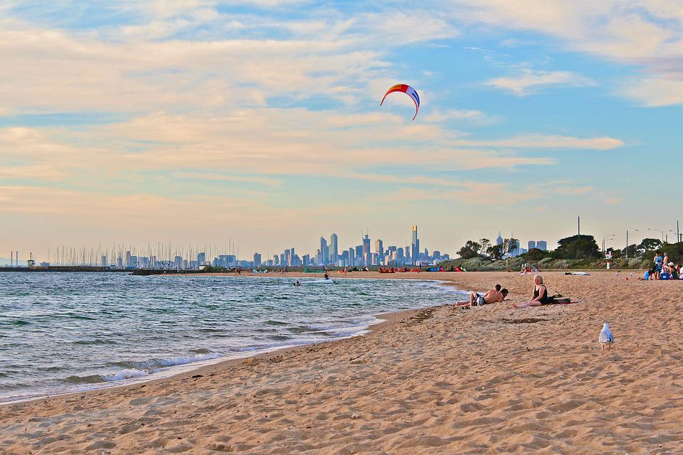 Melbourne, Beach, Australia, Ocean, Coast, Tourism, Sea