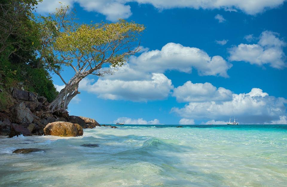 Beach, Sea, Sand, Thailand, Bamboo Beach, Bamboo, Blue