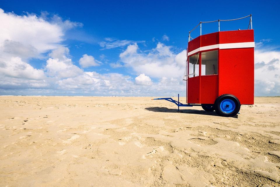 Beach, Blue Sky, Borkum, Sea Beach
