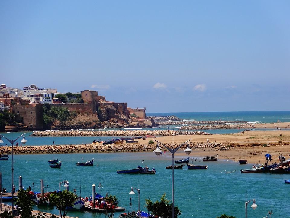 Morocco, Rabat, Sea, Beach, Capital, City, Landscape
