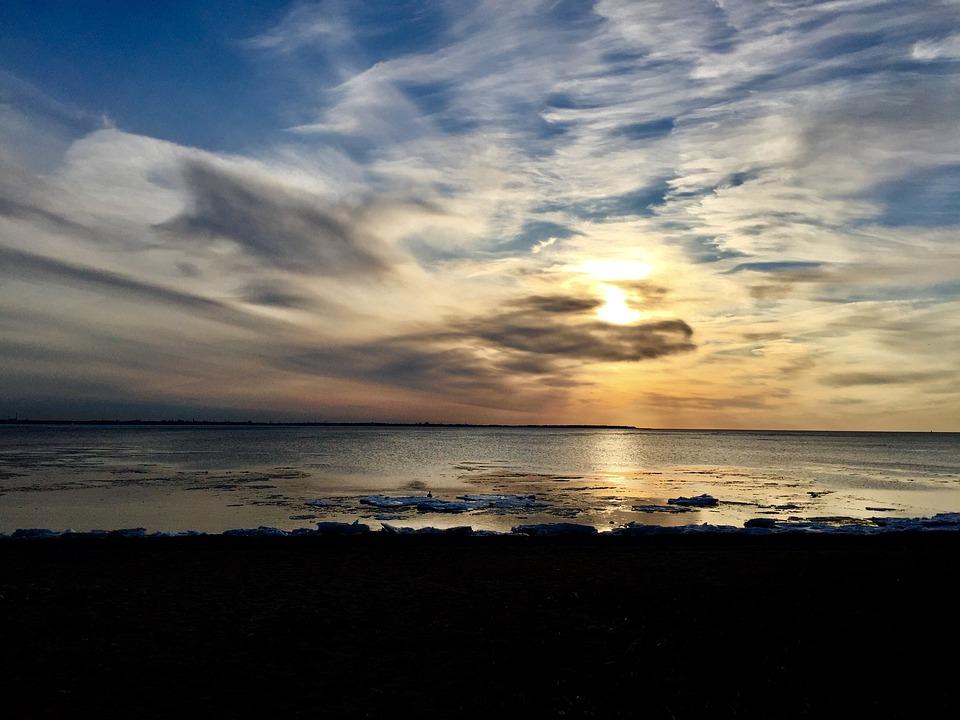 Sunset, Water, Sea, Nature, Dusk, Sun, Beach, Dawn