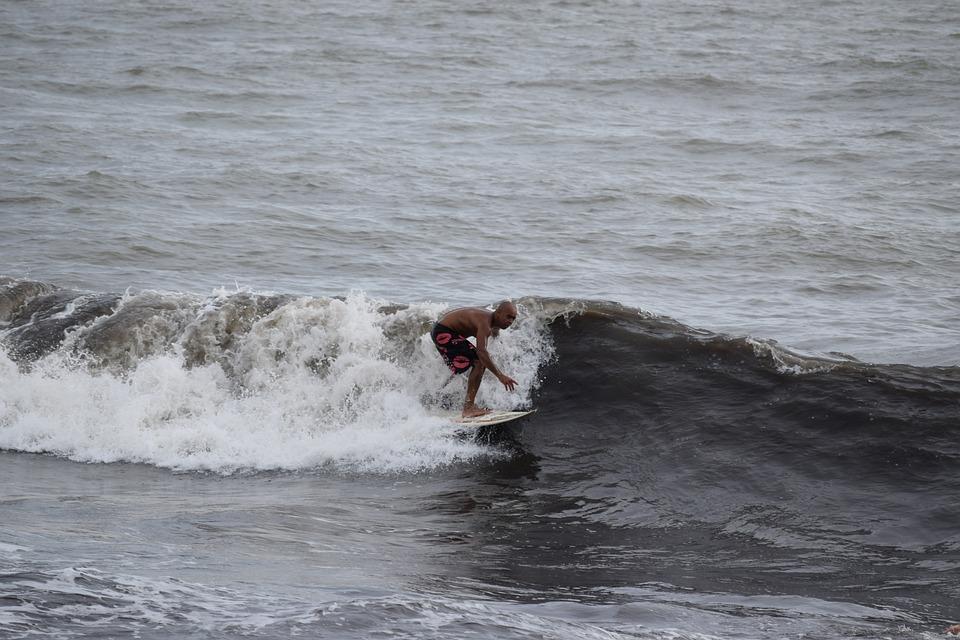 Surfing, Onda, Sea, Winter Sea, Beach, Nature, Water