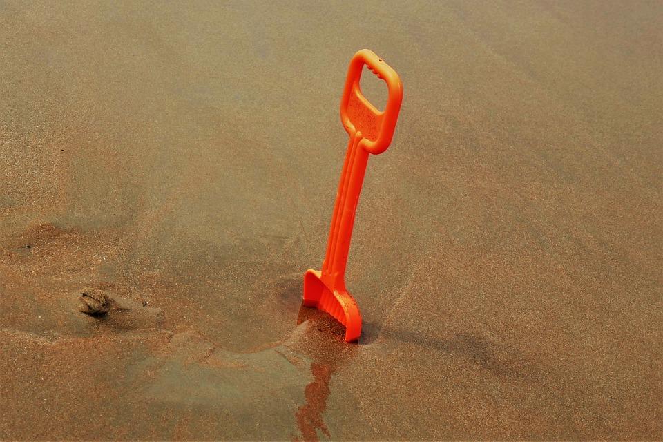 Beach, Play, Sand Shovel, Sea, Play Outside, Toys