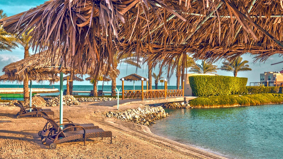 Beach, Chalet, Sea, Bahrain, Al Bander Resort, Vacation